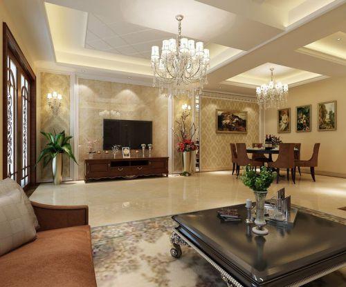 简欧风格四居室客厅装修图片欣赏