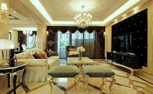 简欧风格米色客厅茶几装修效果图