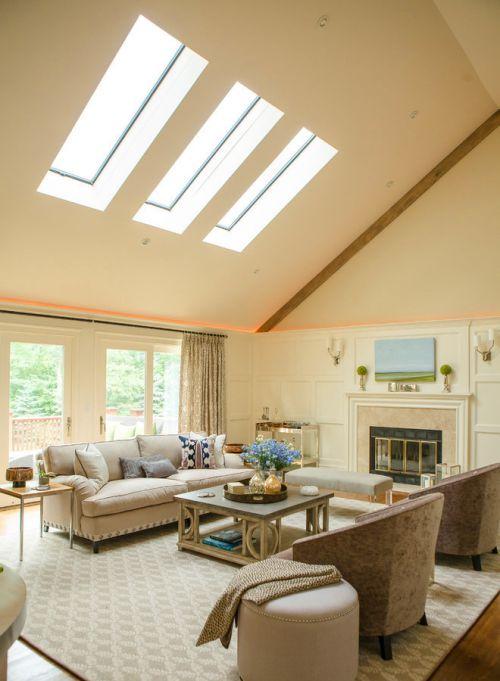 白色简欧风格大客厅沙发设计
