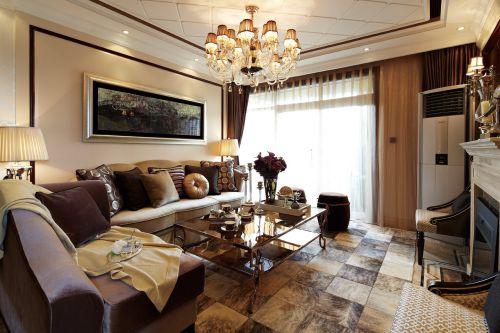 简欧风格富丽高贵客厅效果图