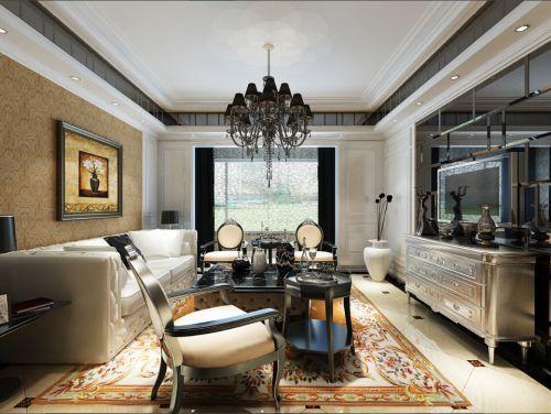 简欧风格二居室客厅照片墙装修效果图大全