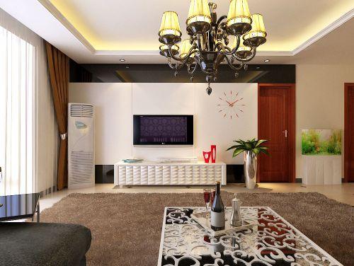 现代简欧三居室客厅装修图片