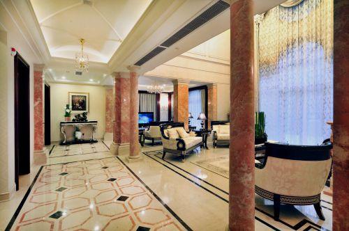 简欧风格别墅恢宏客厅装修设计