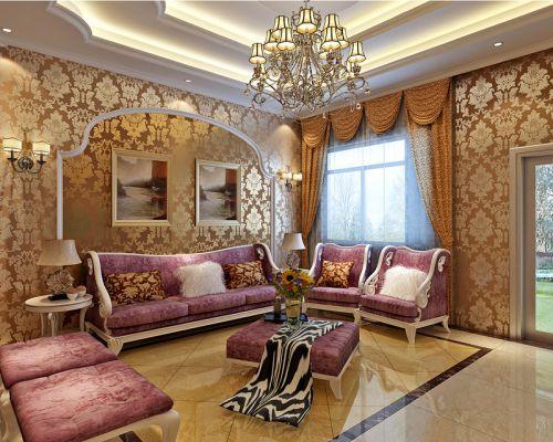 简欧风格别墅客厅飘窗装修效果图大全