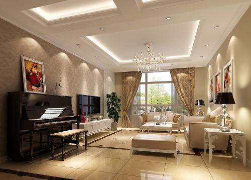 简欧风格二居室客厅装修图片