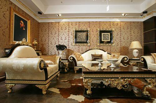 整洁舒适简欧风格客厅效果图