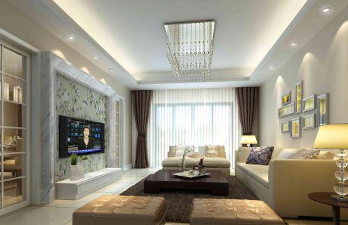 纯洁白色简欧风格客厅装修效果图