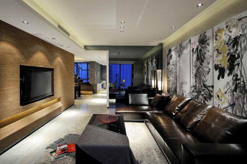 咖啡色系优雅奢华简欧风格客厅效果图