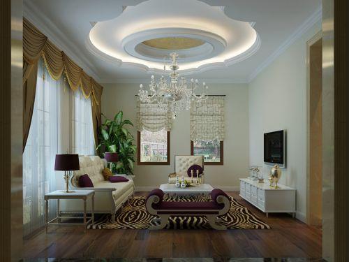 简欧风格六居室客厅吊顶装修效果图