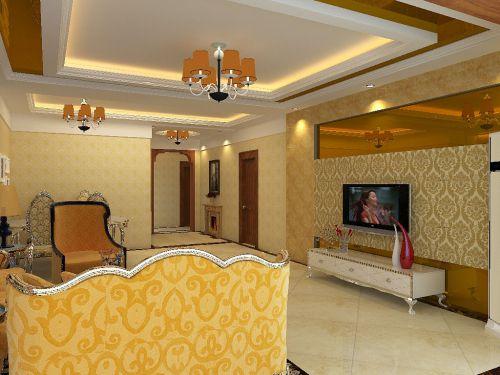 简欧风格三居室客厅装修效果图欣赏