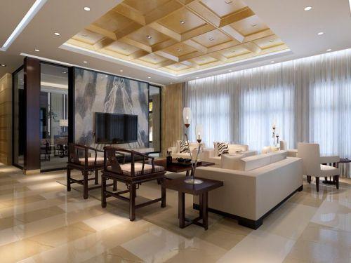 简欧风格三居室客厅沙发装修效果图