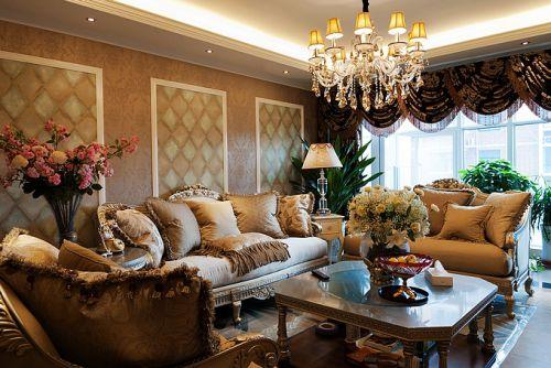 简欧风格一居室客厅装修效果图大全