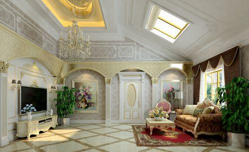简欧风格别墅客厅吊顶装修效果图大全