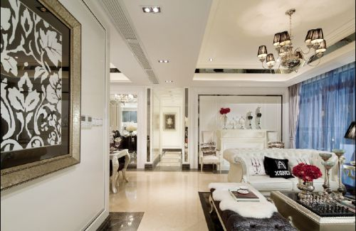 现代简欧三居室客厅装修图片欣赏