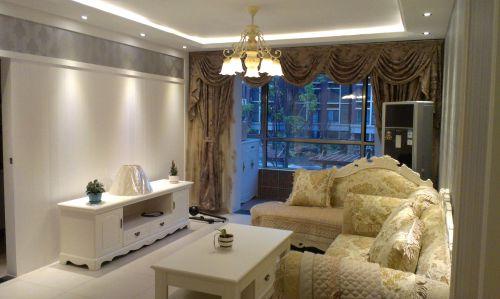 简欧风格二居室客厅装修效果图欣赏