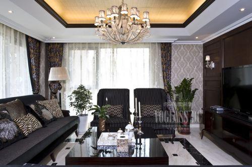 简欧风格别墅客厅装修效果图欣赏