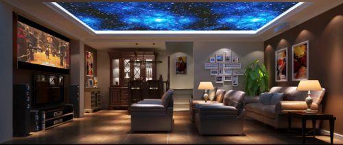 简欧风格四居室客厅电视柜装修效果图大全
