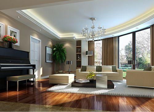 简欧风格三居室客厅隔断装修效果图欣赏