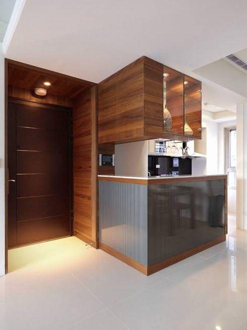 简欧风格二居室客厅橱柜装修效果图
