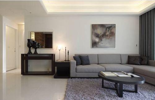 简欧风格二居室客厅照片墙装修效果图欣赏