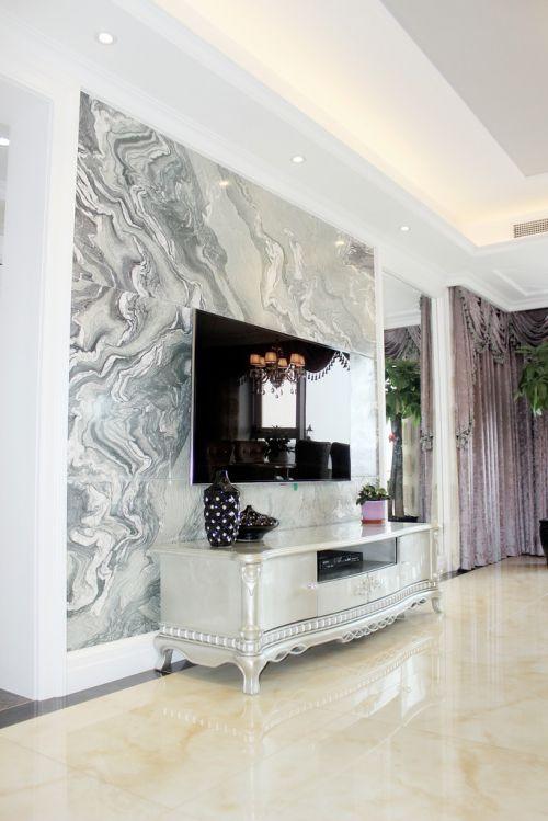 简欧风格二居室客厅电视柜装修效果图大全