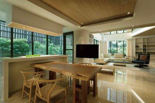 简欧风格五居室客厅沙发装修效果图
