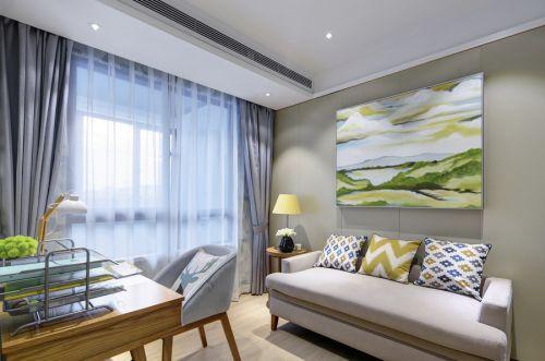 简欧风格二居室客厅茶几装修效果图欣赏
