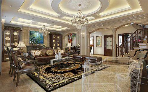 简欧风格五居室客厅飘窗装修效果图欣赏