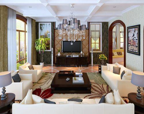 简欧风格别墅客厅装修图片欣赏