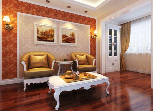 简欧风格四居室客厅窗帘装修效果图欣赏