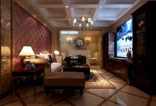 简欧风格四居室客厅茶几装修图片
