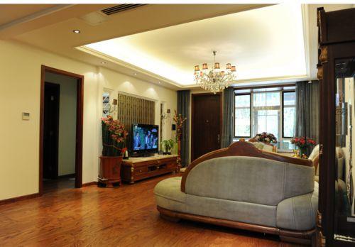现代简欧六居室客厅装修效果图