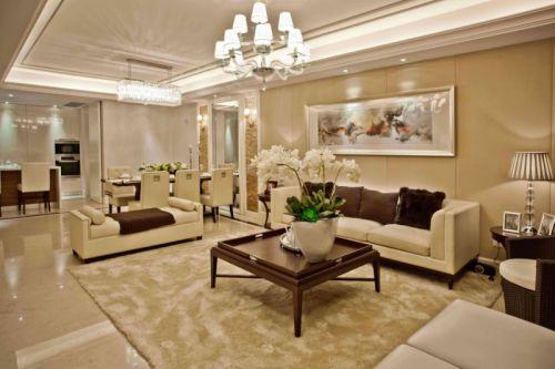 简欧风格二居室客厅沙发装修效果图