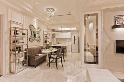 简欧风格二居室客厅装修效果图大全