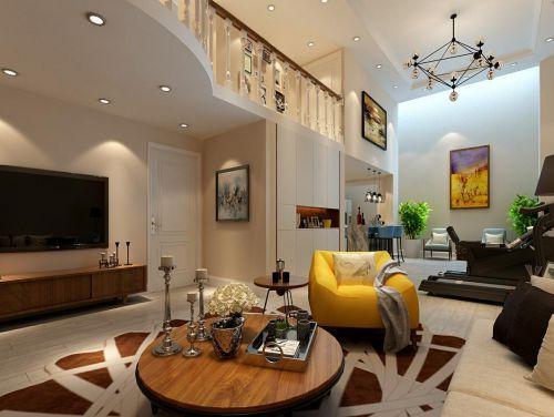 简欧风格六居室客厅背景墙装修效果图