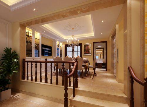 简欧风格六居室客厅楼梯装修效果图