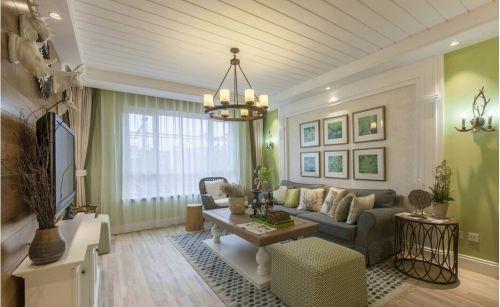 简欧风格二居室客厅吊顶装修效果图