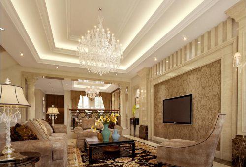 简欧风格五居室客厅吧台装修效果图