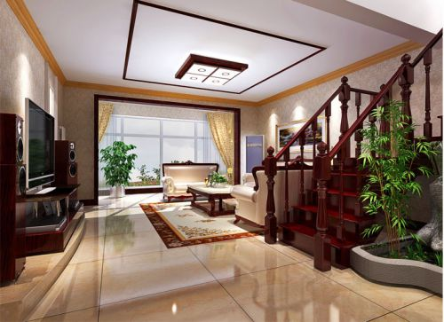 简欧风格三居室客厅照片墙装修效果图欣赏
