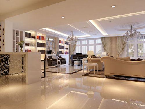 简欧风格三居室客厅吧台装修效果图欣赏