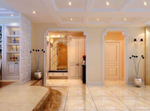 简欧风格三居室客厅瓷砖装修效果图大全