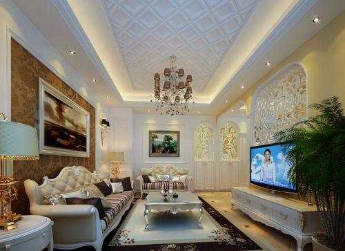 简欧风格五居室客厅组合柜装修效果图大全