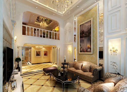 简欧风格四居室客厅飘窗装修图片