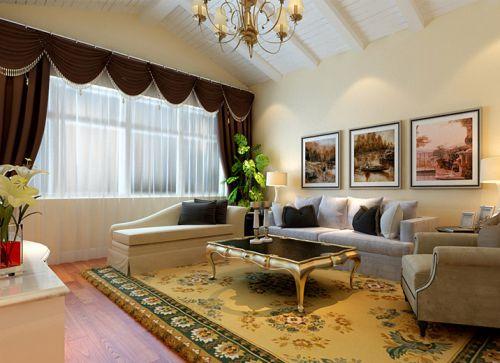 简欧风格四居室客厅照片墙装修效果图欣赏