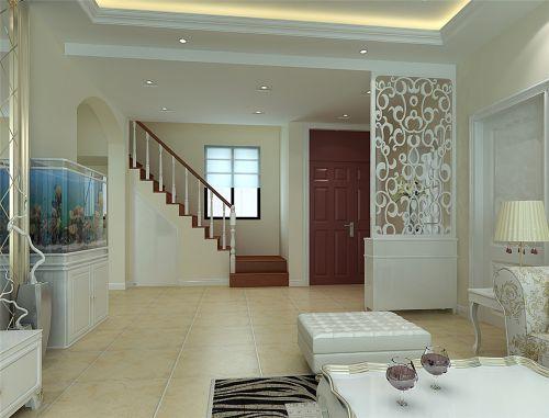 简欧风格三居室客厅飘窗装修图片