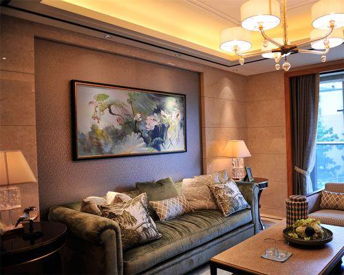 简欧风格二居室客厅隔断装修图片