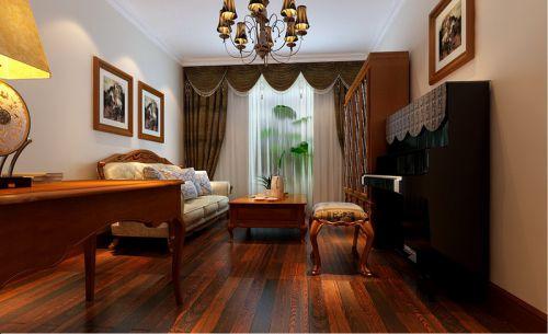 简欧风格三居室客厅吊顶装修效果图欣赏