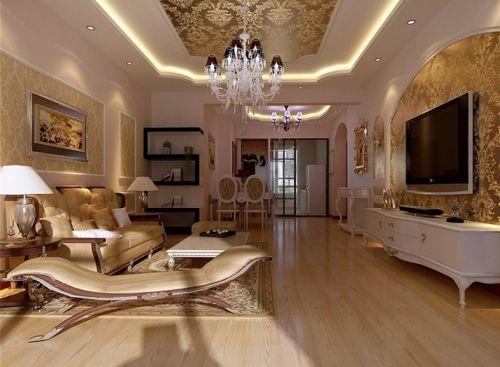 简欧风格二居室客厅隔断装修效果图大全