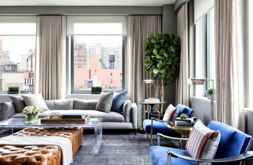 气质优雅简欧风格客厅沙发装修设计