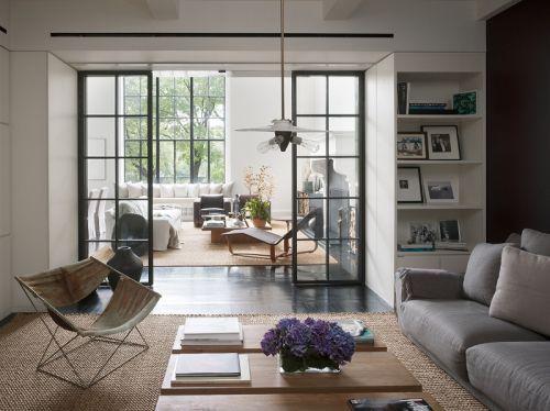 舒适休闲简欧风格客厅装修实景图
